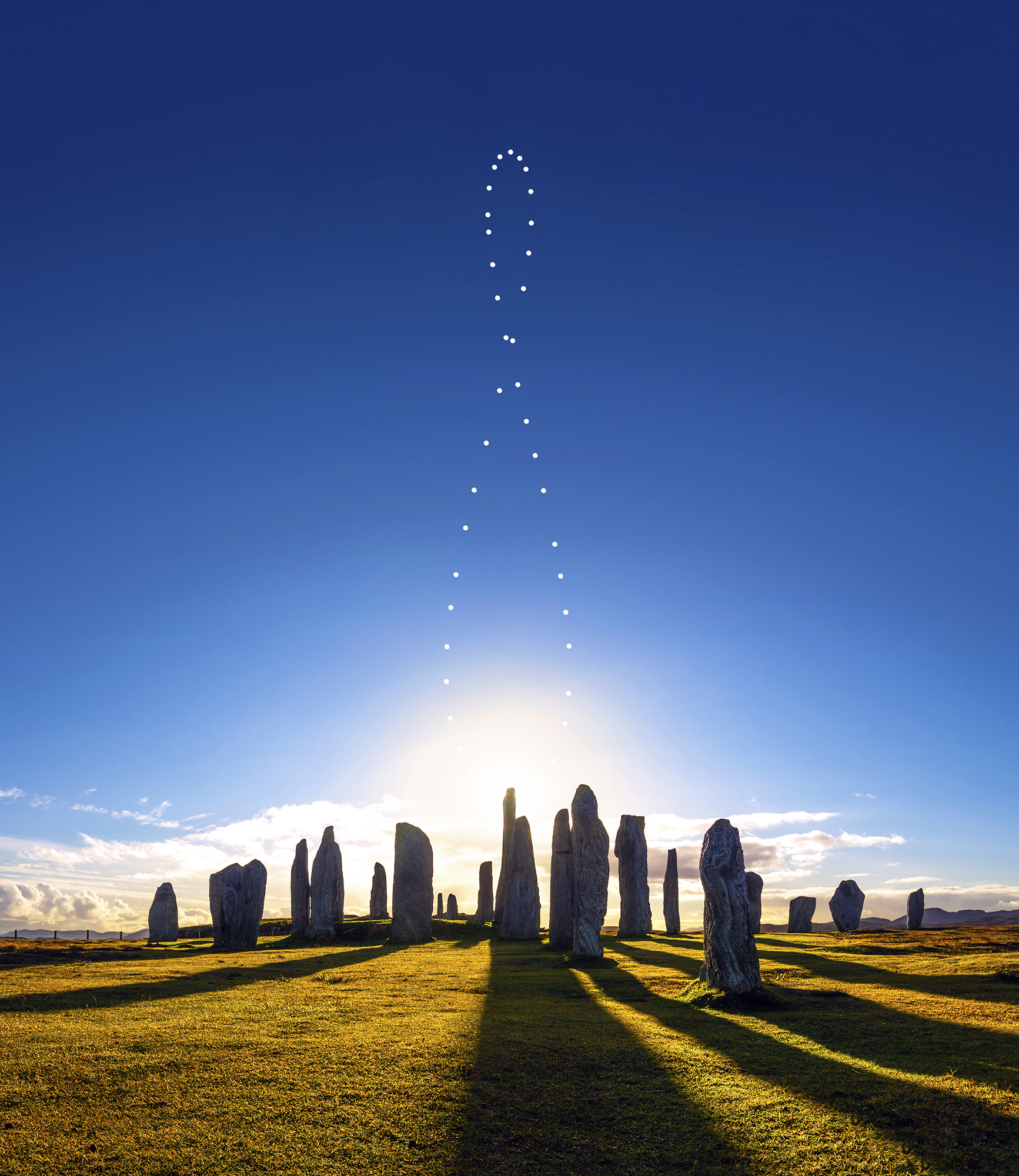 2017 Solar Analemma over Callanish